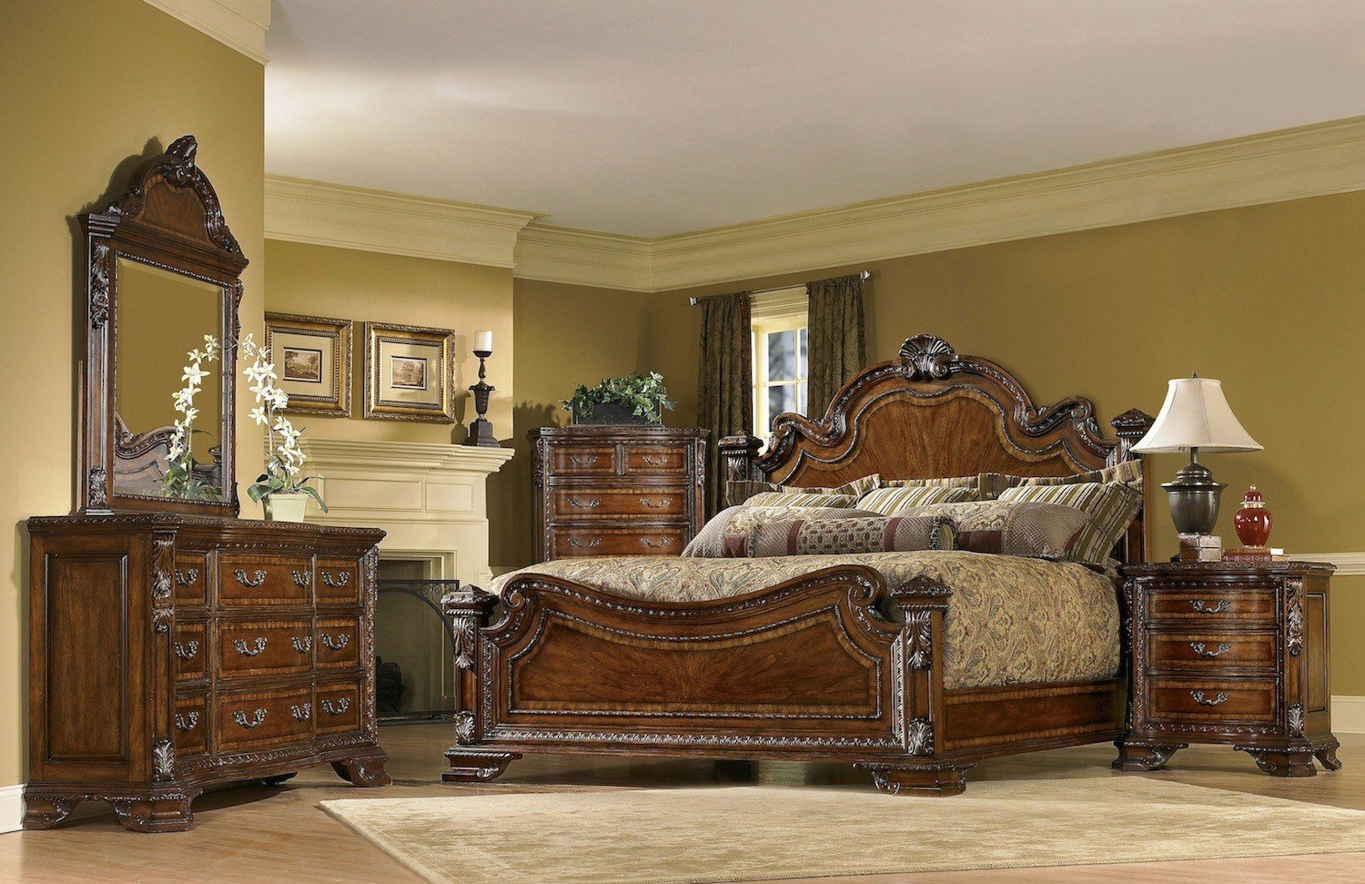 Best Old World 6 Piece King Traditional European Style Bedroom With Pictures