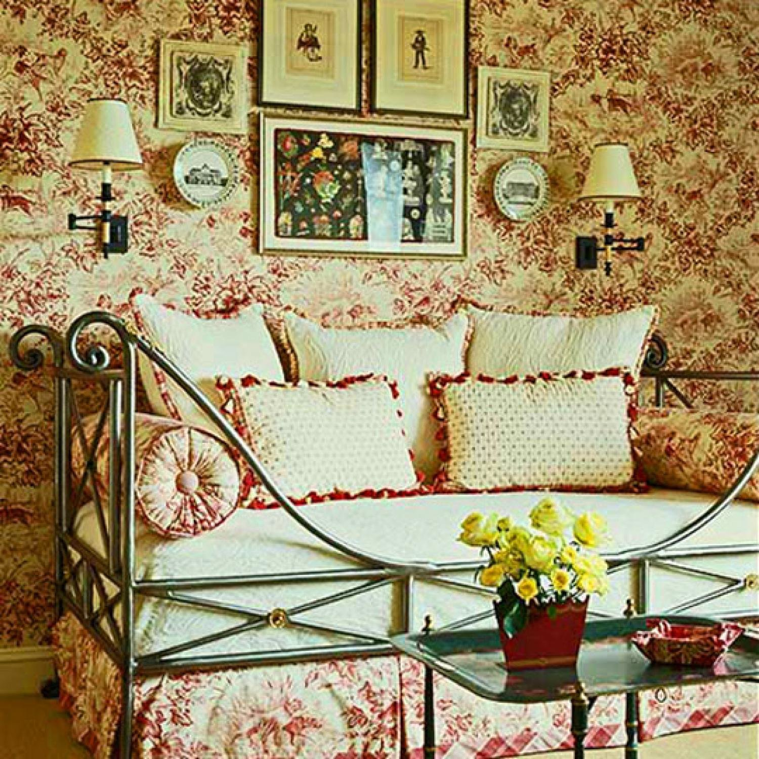 Best Decorating Ideas Toile Fabric Traditional Home With Pictures