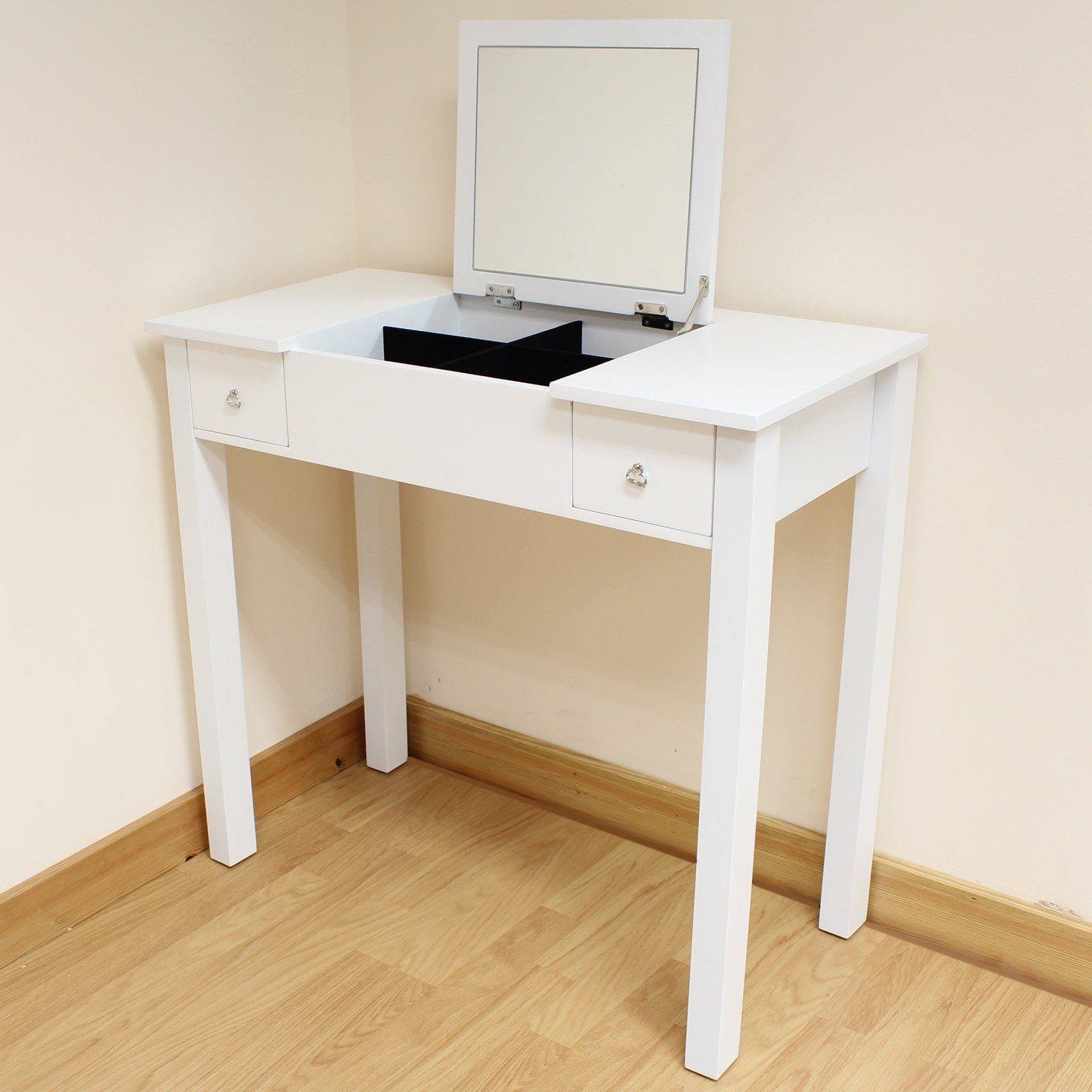 Best White Dressing Room Bedroom Vanity Make Up Table Desk With Pictures