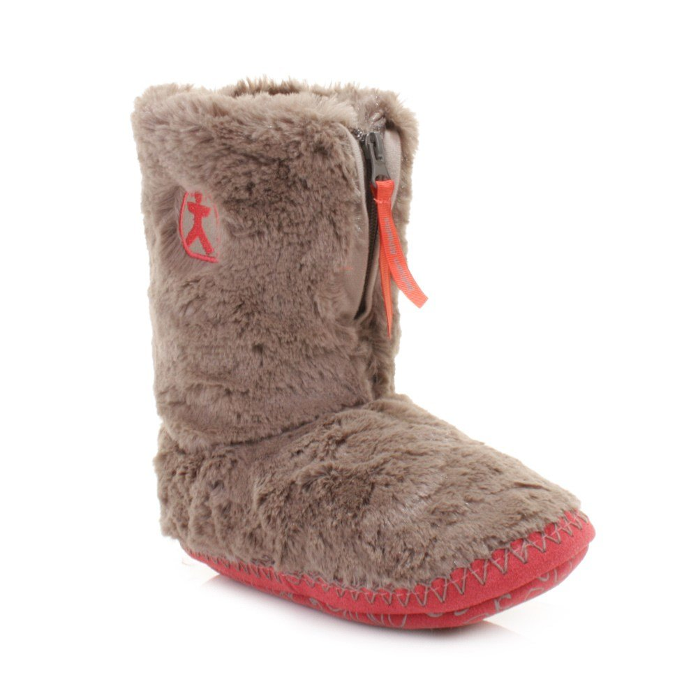 Best Womens Bedroom Athletics Monroe Moonrock Paprika Faux Fur Slipper Boot Size 3 4 With Pictures