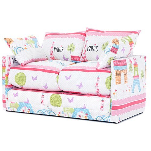 Best Paris City Print Children S Bedroom Sofa Bed Fold Out With Pictures