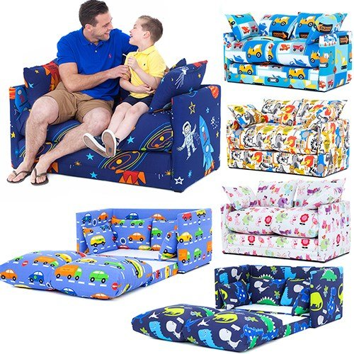 Best Children S Prints Bedroom Sofa Bed Fold Out Boys Girls With Pictures