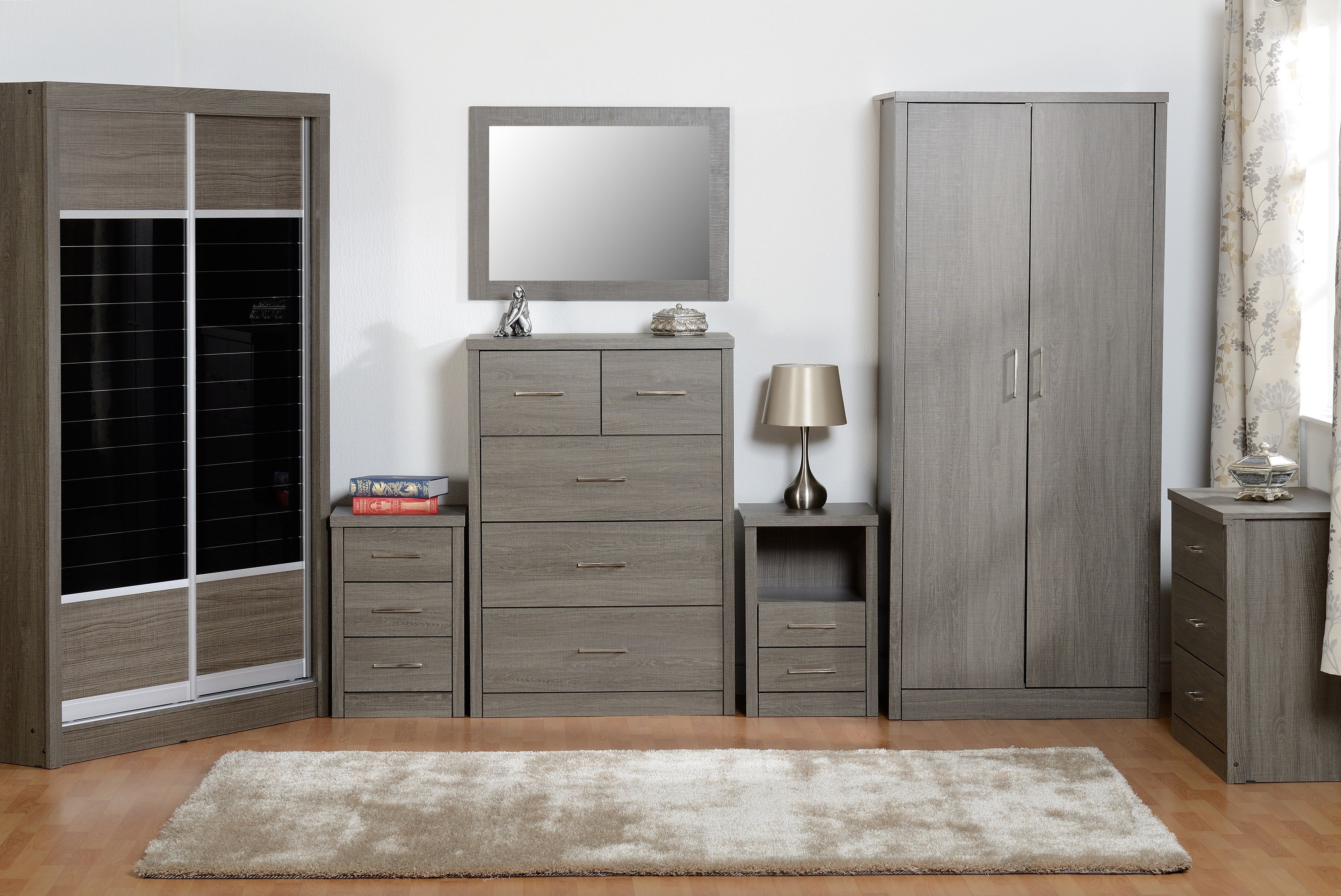 Best Seconique Lisbon Black Bedroom Furniture Range Wardrobe With Pictures