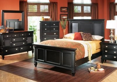 Best Belmar Black Panel 5 Pc Queen Bedroom Queen Bedroom Sets With Pictures
