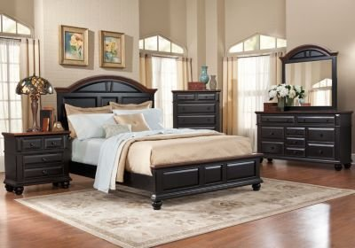 Best Berkshire Lake Black 5 Pc Queen Panel Bedroom Bedroom With Pictures