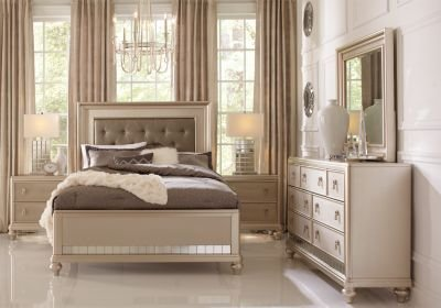 Best Sofia Vergara Paris Champagne 5 Pc King Bedroom Bedroom With Pictures
