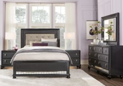 Best Sofia Vergara Paris Black 7 Pc Queen Bedroom Queen With Pictures