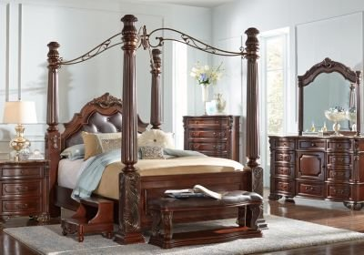 Best Southampton Walnut 6 Pc Queen Canopy Bedroom Bedroom With Pictures