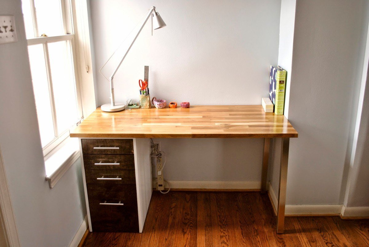 Best Custom Beech And Maple Desk Ikea Hackers Ikea Hackers With Pictures