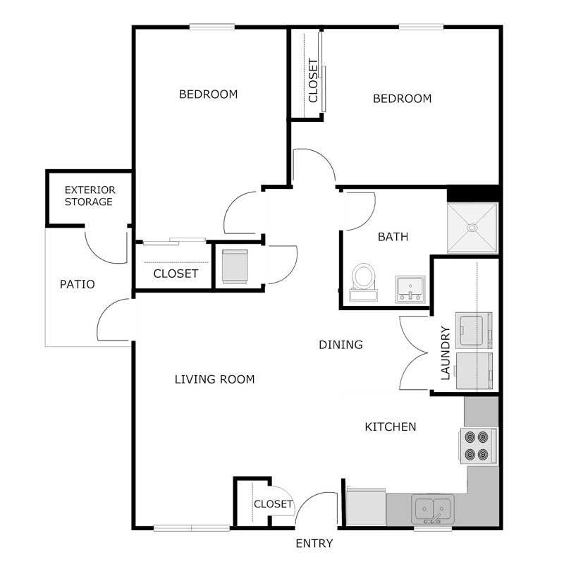 Best 2 Bedroom 1 Bath Apartment Jefferson Crossing Apartments With Pictures