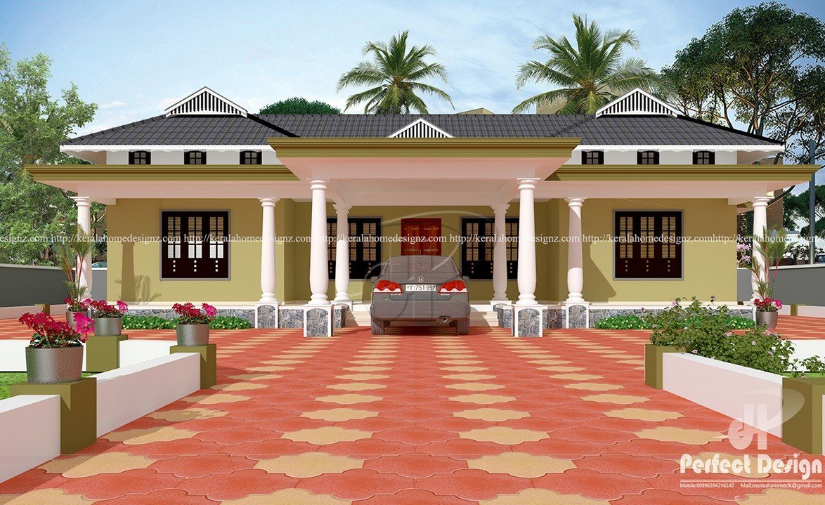 Best 3 Bedroom Tradition Kerala Home – Kerala Home Design With Pictures
