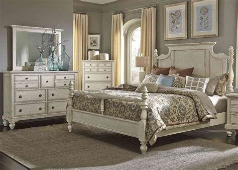 Best Liberty Furniture High Country Poster Bedroom Set In White With Pictures