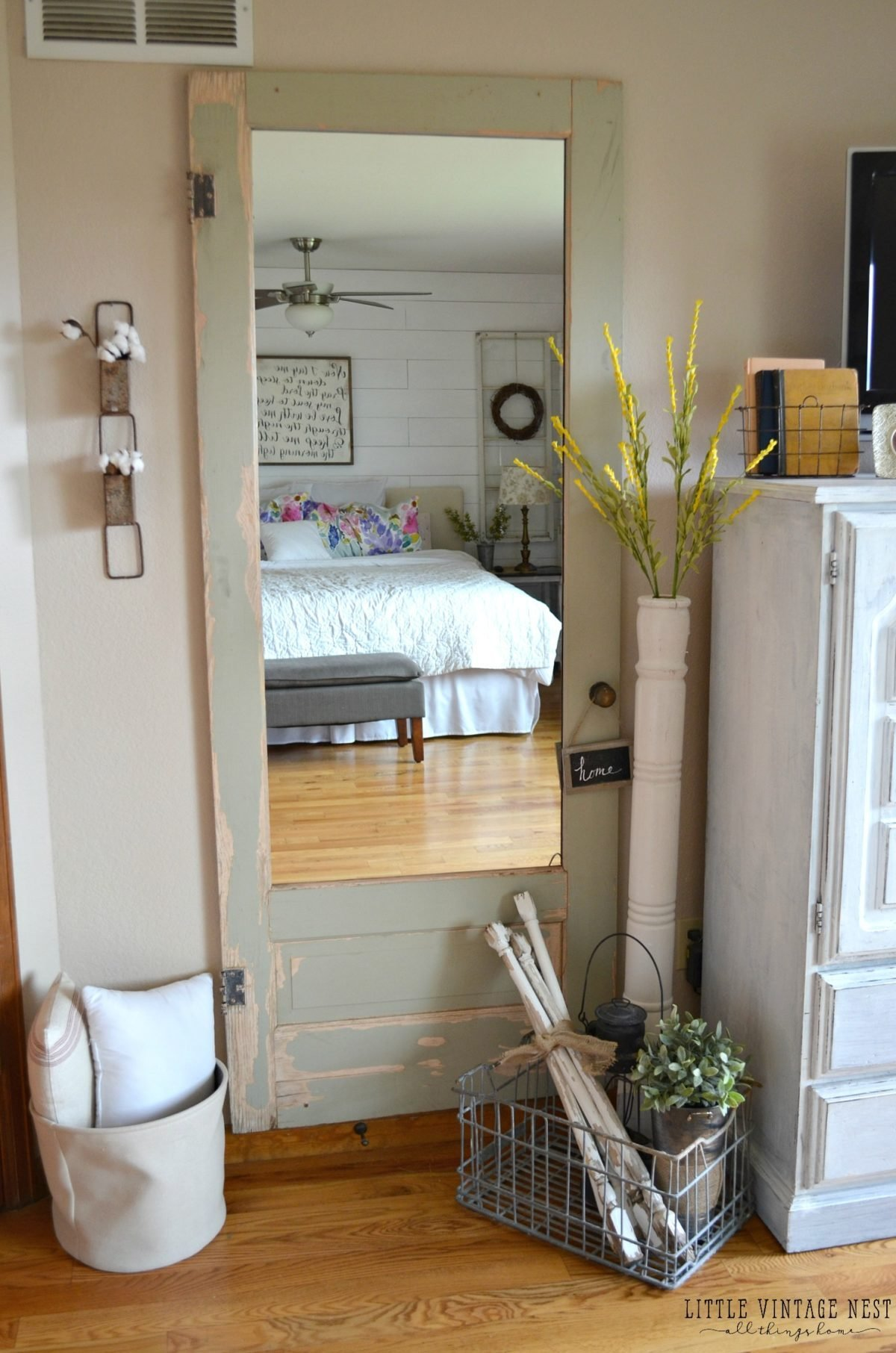 Best Old Door Turned Full Length Mirror Little Vintage Nest With Pictures
