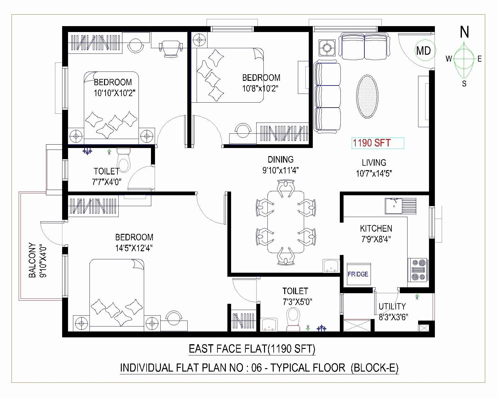 Best 29 Sensational East Facing House Vastu Plan Picture – Floor Plan Design With Pictures
