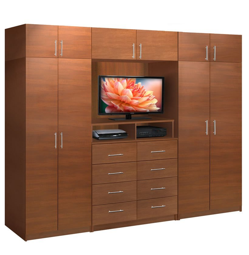 Best Aventa Tv Wall Unit X Tall 10 Door Wall Unit For Bedrooms Contempo Space With Pictures