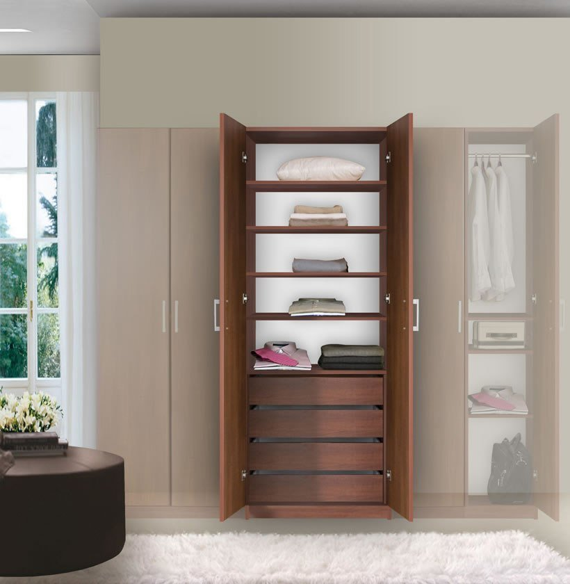 Best Bella Wardrobe Armoire Modern Bedroom Storage Contempo With Pictures
