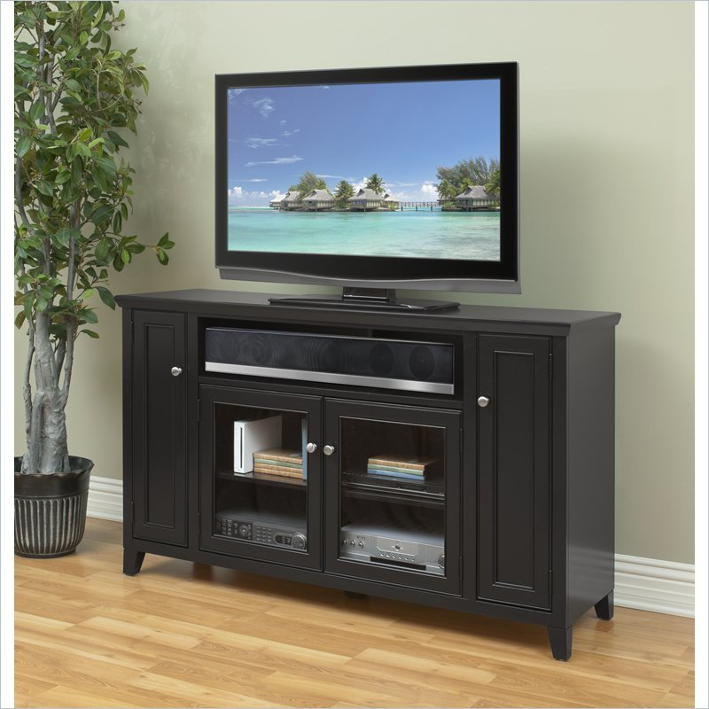 Best Martin Furniture Hudson Street 36 Tall Tv Stand Black With Pictures