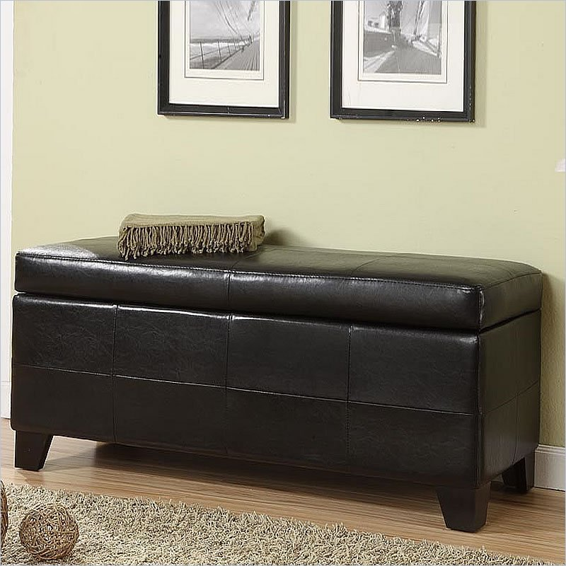 Best Modus Upholstered Milano Blanket Storage Bench Black With Pictures