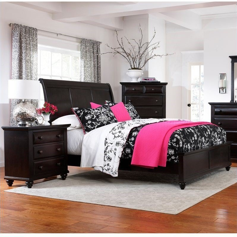 Best Broyhill Farnsworth Sleigh Bed 2 Piece Bedroom Set In Inky With Pictures