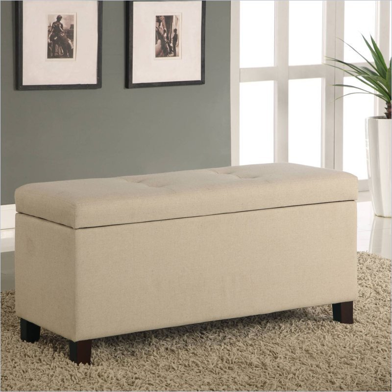 Best Modus Furniture Urban Seating Storage Bench Natural Linen With Pictures