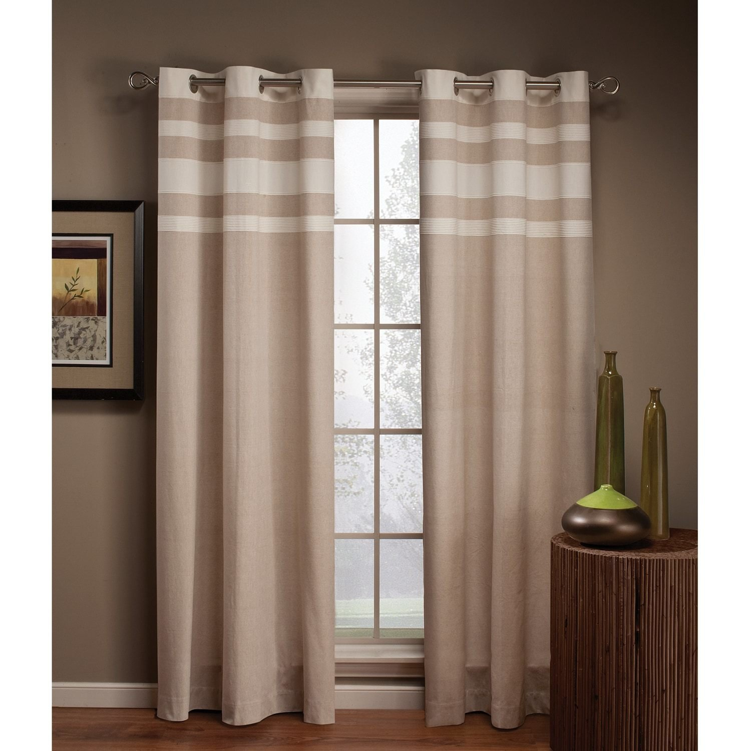 Best Saturday Knight Ltd Streamline Striped Curtain With Pictures
