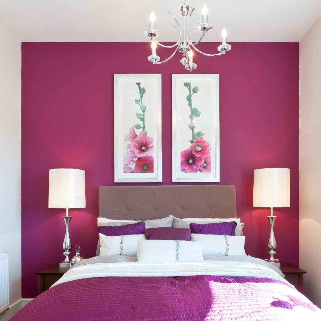 Best Purple Red And White Bedroom Home Decorating Ideas With Pictures