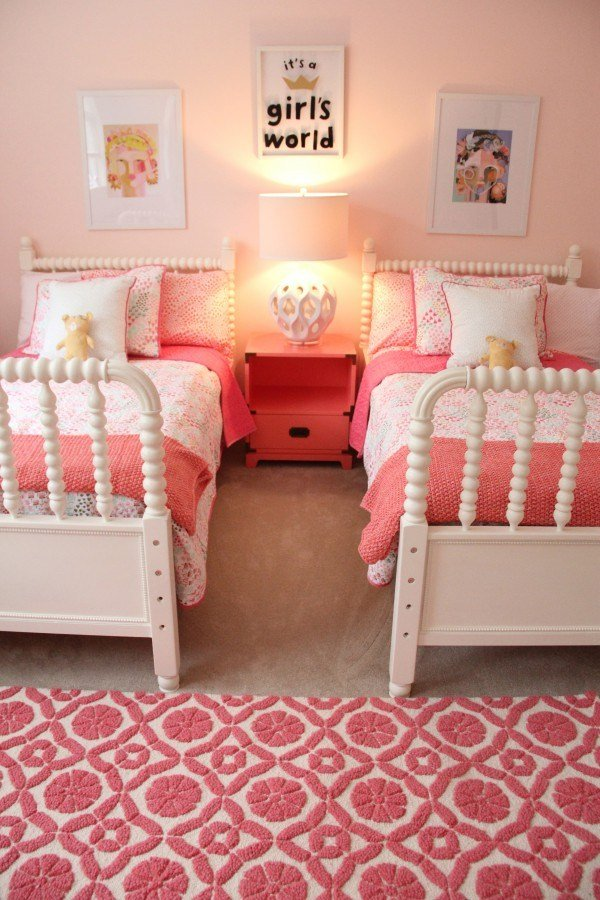 Best Monday Makeover – Shared Little Girls Room With Pictures