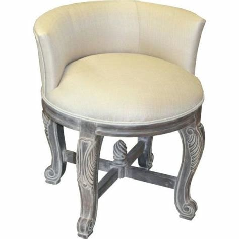 Best Vanity Chair With Back Nepinetwork Org With Pictures