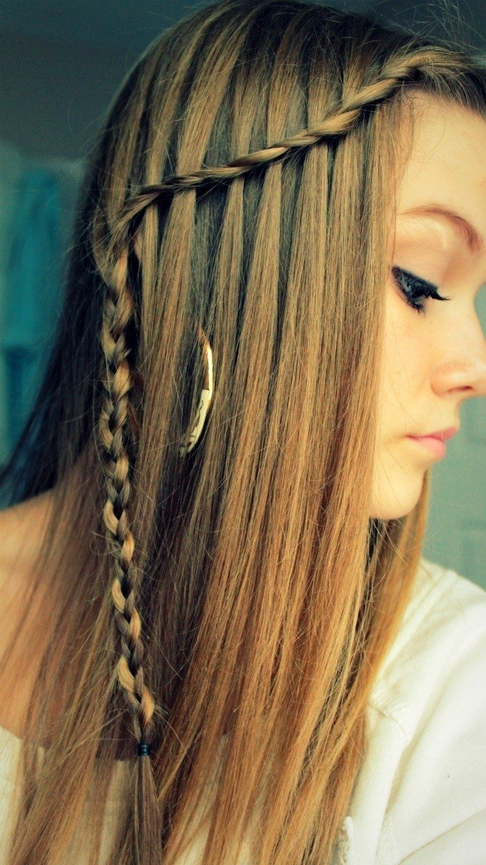 Free 10 Best Waterfall Braids Hairstyle Ideas For Long Hair Wallpaper
