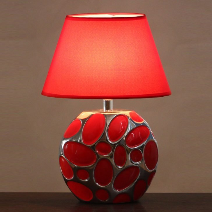 Best Wonderful Interior Red Table Lamps For Living Room Pomoysam Com With Pictures