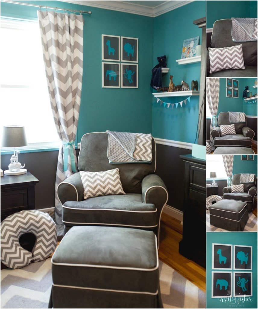 Best Jackson S Teal And Grey Chevron Safari Nursery Project With Pictures