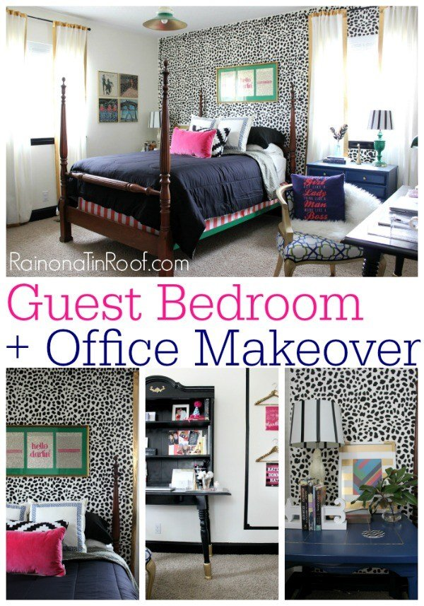 Best Chic Guest Bedroom And Office Reveal With Pictures