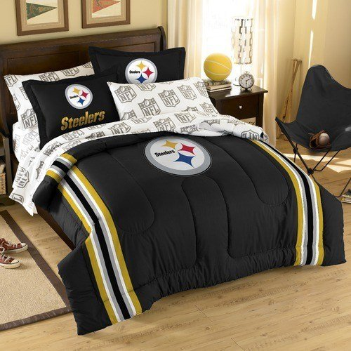 Best Nfl Pittsburgh Steelers Embroidered Twin Full Comforter With Pictures