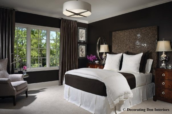 Best Chocolate Brown And White Bedroom Contemporary Bedroom Portland By Ragan Corliss With Pictures