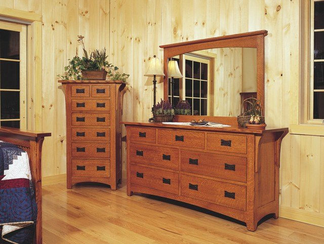 Best Mission Style Oak Bedroom Furniture Craftsman Bedroom Cleveland By Schrocks Of Walnut Creek With Pictures