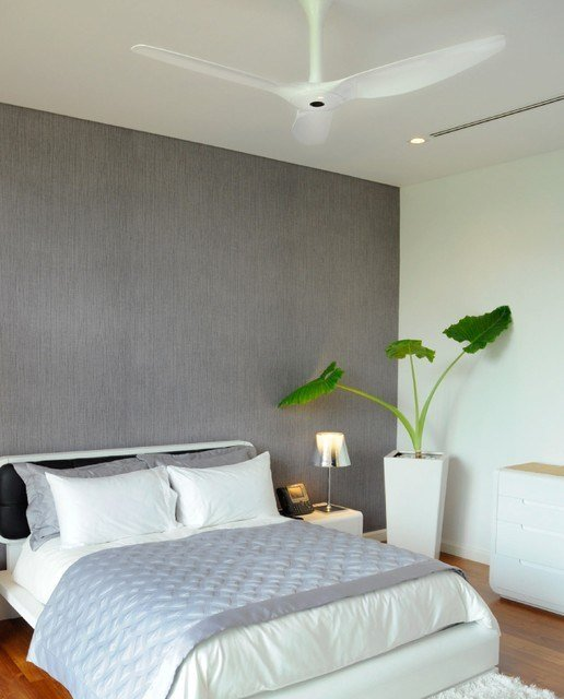 Best Haiku White Ceiling Fan In The Bedroom Contemporary With Pictures
