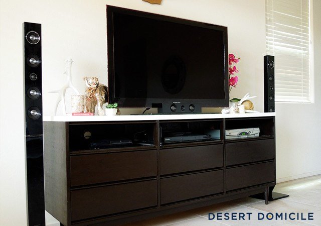 Best Mid Century Modern Dresser Turned Entertainment Center With Pictures