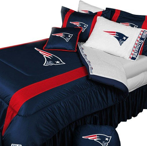 Best New England Patriots Football Queen Full Bed Comforter Set With Pictures