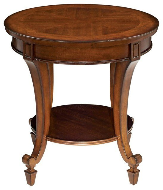 Best Traditional Demilune Collection Round End Table Traditional Nightstands And Bedside Tables With Pictures