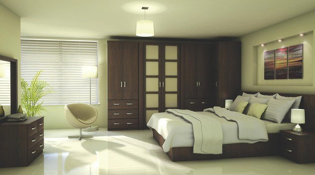 Best Contemporary Walnut Effect Modular Bedroom Furniture With Pictures