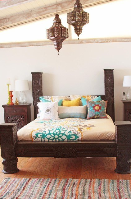 Best Indian Bed Eclectic Bedroom Los Angeles By Tara Design With Pictures