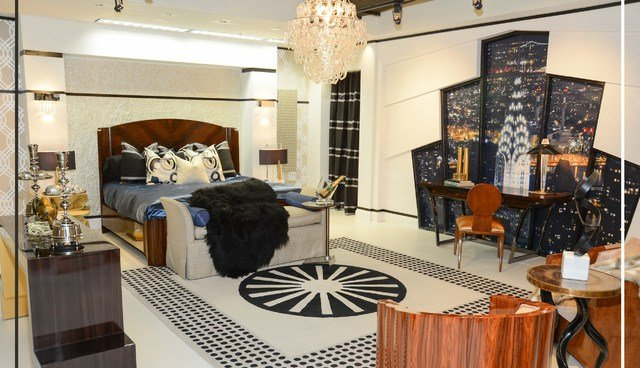 Best Art Deco Master Bedroom For Dcota S International Market Eclectic Bedroom Miami By Eolo With Pictures
