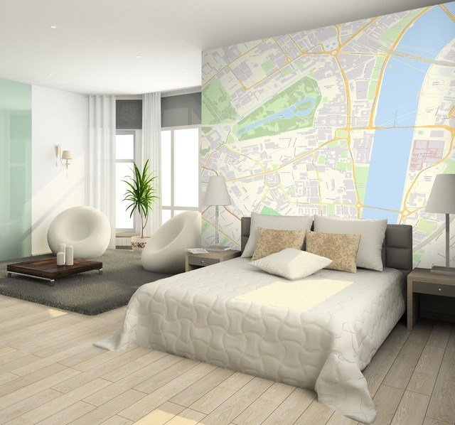 Best Custom Postcode Wallpaper Contemporary Bedroom With Pictures