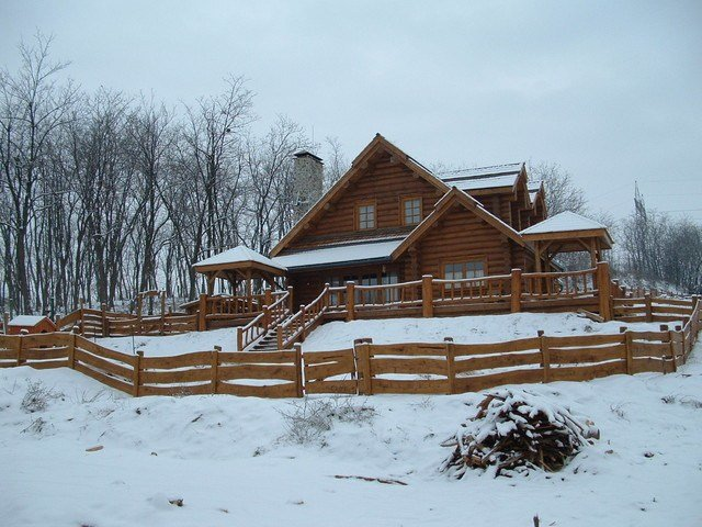 Best 3 Bedroom Log Cabin Traditional Exterior Other Metro With Pictures
