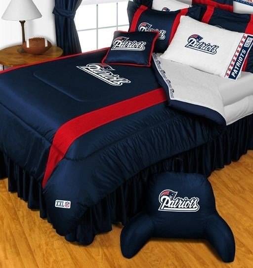 Best New England Patriots Nfl Bedding Sidelines Complete Set With Pictures