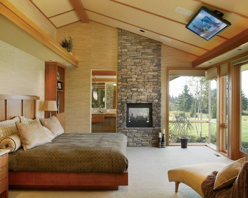Best Fireplace To Slanted Angled Ceiling Home Design Ideas Pictures Remodel And Decor With Pictures