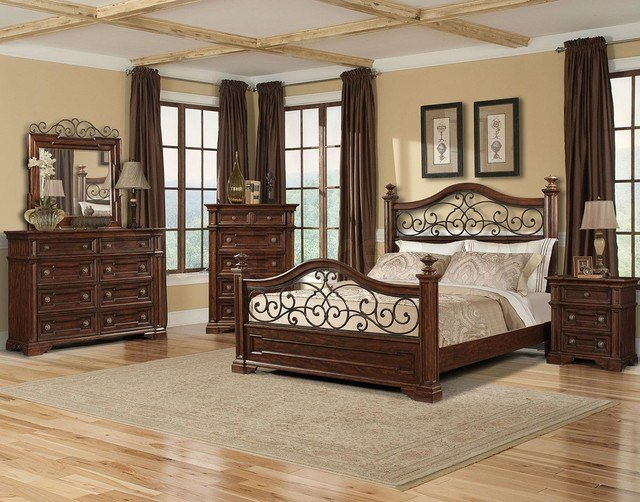 Best San Marcos Bedroom Set In Cherry Traditional Bedroom With Pictures