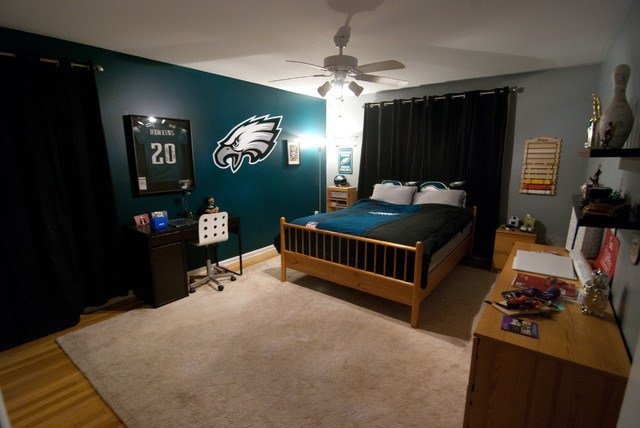 Best Eagles Football Bedroom For Kid Modern Bedroom With Pictures