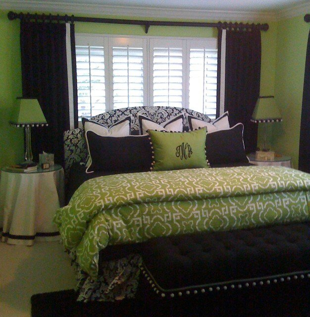 Best Green Bedroom Contemporary Window Treatments Tampa By Curtain Pros With Pictures