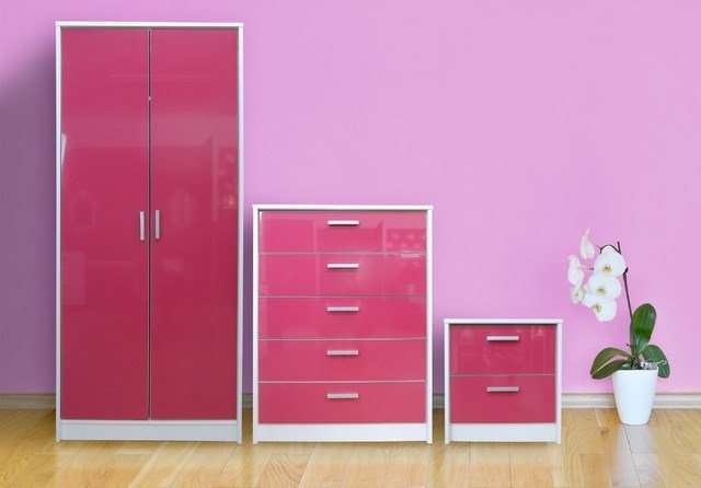 Best Khabat High Gloss Bedroom Furniture Set Pink Gloss With Pictures